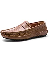 Los Zapatos Casuales de los Hombres del Verano Ahuecan hacia Fuera los Zapatos de conducción Respirables