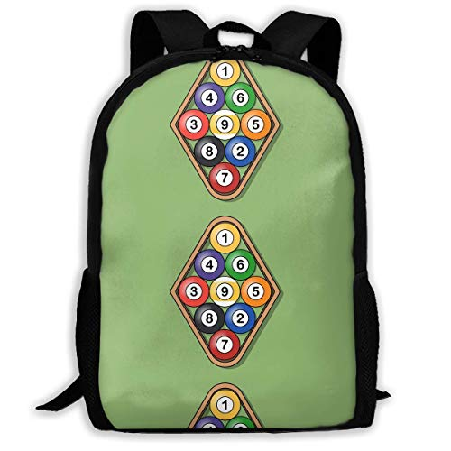 Rack A Pool Table Step Unisex Adult Custom Rucksack,School Leisure Sports Book Bags,Durable Oxford Outdoor College Laptop Computer Shoulder Bags,Lightweight Travel Tagesrucksäcke (Alles In Einem Table-top-computer)