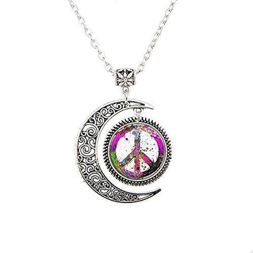 l-Anhänger, Forum, Neuheiten, Groovy Peace Medaillon Schmuck, Friedenszeichen, Halskette, Geschenk ()