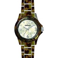Oxbow 4544002-Ladies Watch-Analogue Quartz-Dial Multicolour Plastic Strap Tablecloth