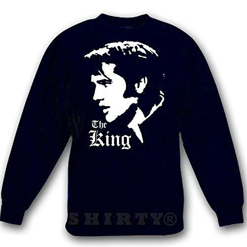 Sweat - Shirt - schwarz - 5XL - Elvis Presley 2 - 1100 (Sweatshirt Elvis)