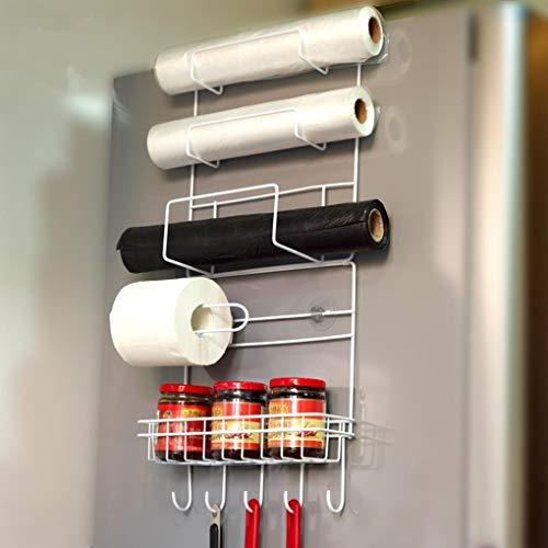 Yongse Réfrigérateur Rangement latéral Rack de Rangement Economiseur d'espace de Rangement Cuisine Wrap Rack Organizer Accessoires pour réfrigérateur