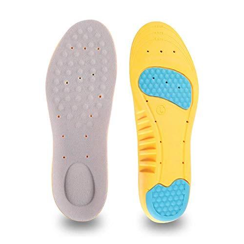 FOONEE Gel-Einlegesohlen, 1 Paar, weiche Fußgewölbeunterstützung, Schuheinlagen für Herren und Damen, Sneaker-Schuh-Pads, Sport-Performance-Einlagen für Flache Füße L -