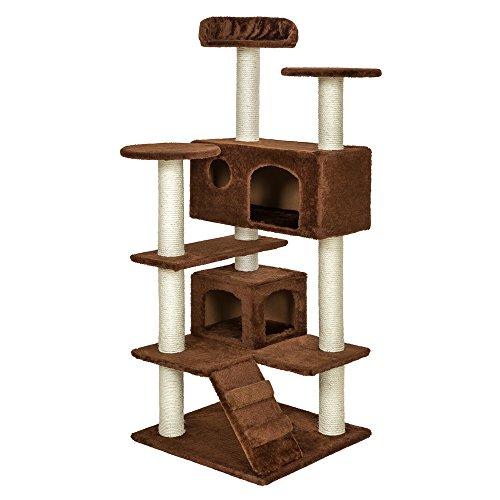 TecTake Rascador para Gatos Árbol para Gatos Trepar Sisal Juguetes (Marrón | no. 400576)