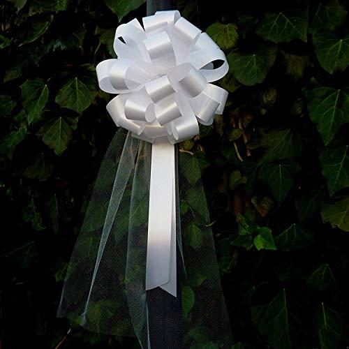 GiftWrap Etc. Boda del tirón de Arcos de Tul Colas 8' Amplio Conjunto de 6 Tamaño Libre Blanco