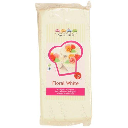 FunCakes mandelhaltige Zuckermasse Weiß, 1er Pack (1 x 1 kg)