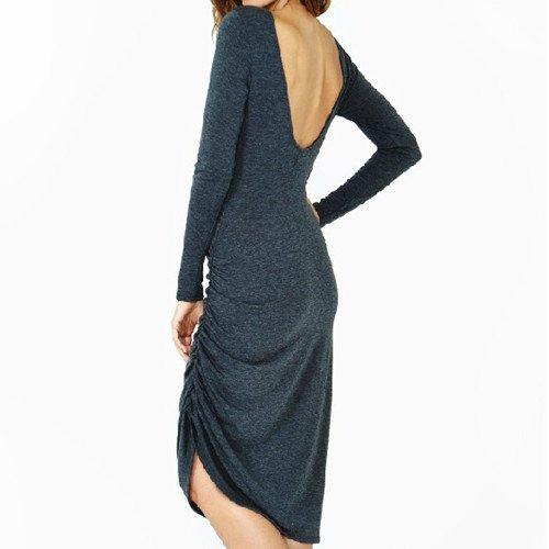 Qiyun–Robe pour femme Bleu