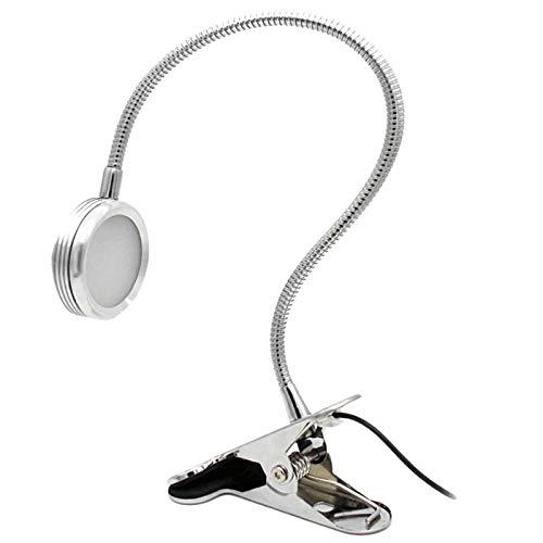 Augenschutz tischlampe led clip licht usb clip tischlampe augenschutz lesebett leselampe, silber monochrom 220 v 5 watt - Biegen Unten Edelstahl Nach Sie