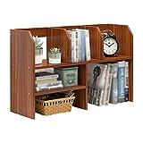 XJJUN Bücherregal for Kinder Klein Desktop-Bücherregal Multifunktion Kreativ Ablagefach Holz Dauerhaft Stark Tragen, 4 Farben (Color : B, Size : 63x17x48cm)