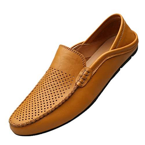 ☀NnuoeN☀ Mocassini Uomo Pelle Estivi Pantofole Casual Eleganti Slip On Scarpe da Guida Scarpe da Barca Classic Loafers Scarpe Comode e Traspiranti