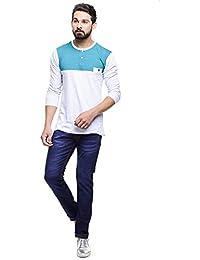 MakeOver Blue Cotton Slim Fit Jeans For Men