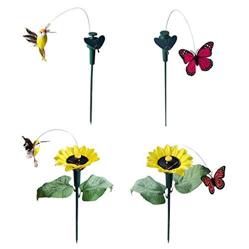 Baoblaze Tanzender Solar Schmetterling Vogel der Hingucker für Garten Balkon Deko -
