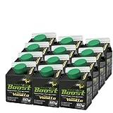 NOVOX Liquid Protein Boost-Aufkonzentriertes Eiklarprotein, Laktosefrei, Glutenfrei, Fettfrei, 60 Gramm Eiweiß, 10,4 Gramm BCAA (12 x 300 Ml Vanille)