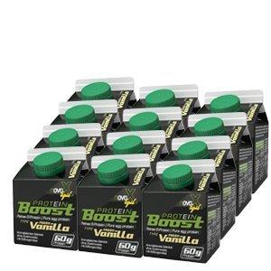 NOVOX Liquid Protein Boost-Aufkonzentriertes Eiklarprotein, Laktosefrei, Glutenfrei, Fettfrei, 60 Gramm Eiweiß, 10,4 Gramm BCAA (12 x 300 Ml - Vanille Protein Egg