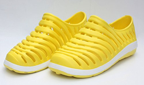 Heheja Femmes Eté Sandales Poids léger Plage Chaussures Sandales Confort Flip Flop Jaune