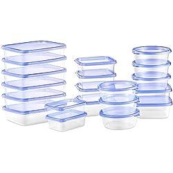 Deik Set de Recipientes para Alimentos con Tapa, Conjunto Apilable de 20 Piezas, Sin BPA, Certificado LFGB, Apta para Lavavajillas y Microondas, Tamaño Diverso