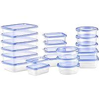 Deik Contenitori Alimentari, Set contenitori per Alimenti plastica Senza BPA, Impilabile 20 Pezzi, Adatto per lavastoviglie, Congelatore, Microonde