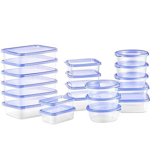 DEIK Frischhaltedose Set, Frischhaltedosen 20 Teile BPA freies, Geeignet für Mikrowelle, Gefrierschrank und Spülmaschine