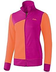 Erima de deporte chaqueta de chándal, mujer, Sport Tracktop Jacke, Purple - Magenta/Carotte, 18