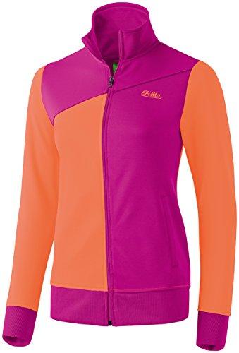 erima Damen Sport Tracktop Jacke, Magenta/Carotte, 38, 207533 Fußball-gewicht Weste