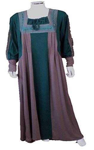 Black Cat Abaya - Chemise de nuit - Tunique - Manches Longues - Femme XX-Large Vert