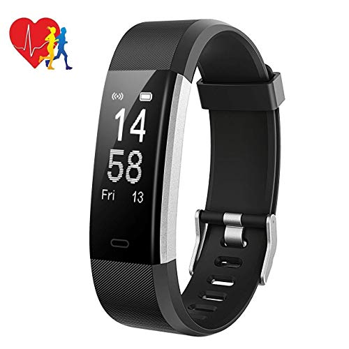 Mpow Smart Watch with Sleep Monitor,Fitness Tracker IP68 Waterproof Level Heart Rate Monitor,Calorie Counter Activity Tracker (2.Black 144)