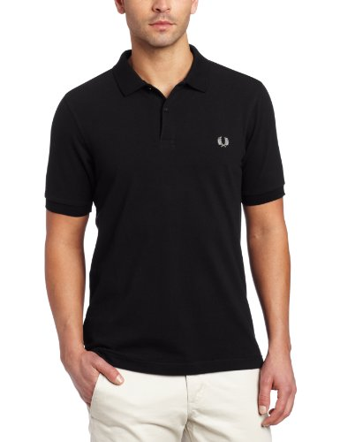 Fred Perry Herren Poloshirt M6000-906 mehrfarbig (Black / Chrome)
