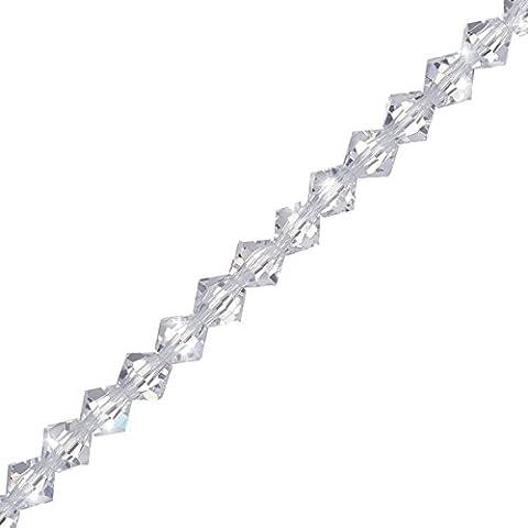 Perles bicones 8mm cristal en cristal chinois 30,5cm brins