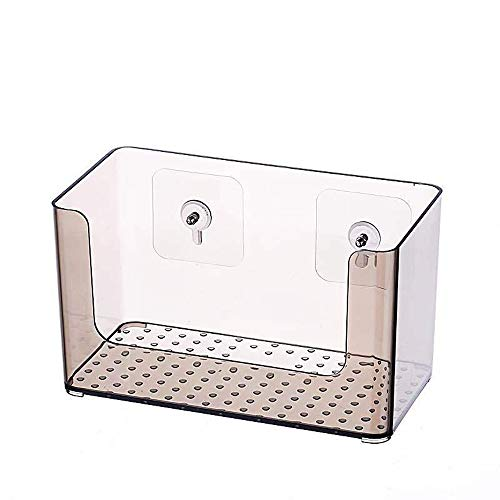 HKJhk Boîte de Rangement Murale pour cosmétiques Boîte de Salle de Bain Murale en Acrylique Transparent européen Minimaliste européen (Couleur : Gray)