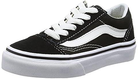 Vans Uy Old Skool, Baskets Basses Mixte Enfant, Noir (Black/True White), 27.5 EU