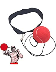 Ueasy Ballon d'entraînement de boxe améliorer votre Vitesse Coordination Reflex Possibilité d'exercice pour salle de sport de boxe MMA et autres sports de combat