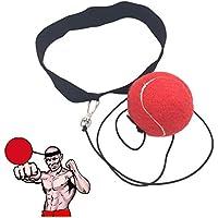 Bola de entrenamiento de boxeo, para mejorar la coordinación y reflejos. , rojo