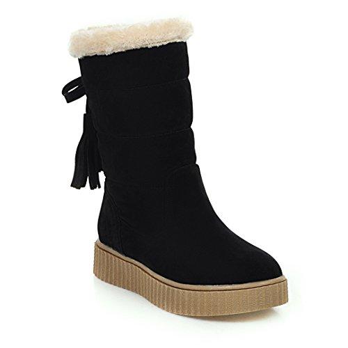 DFW- Weibliche Schuhe Stiefel, Stivali da escursionismo donna Black