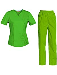 TAILOR S Divisa Ospedaliera sanforizzato Pantaloni + Casacca Scollo a V  Sanitaria Medicale per Medico Infermiere OSS ccb048f1dfc