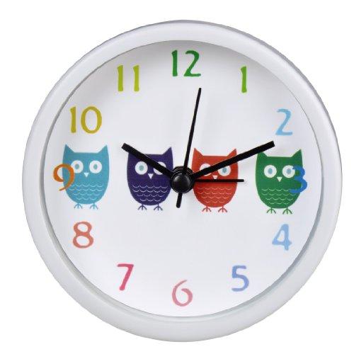 ABS Kunststoff Cartoon Doppel Wecker F/ür Kinder Student Schlafzimmer Kinder Wecker Eule Dekorative Uhr Mit Nachtlicht Und Snooze Jugendliche