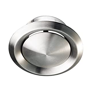 Stainless Steel Metal Ceiling Mounted Round Air Valve Vent Grill, MVHR Heat Recovery, Ventilation Duct Fan (150mm (6