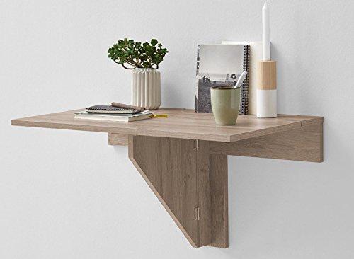 Table pliante coloris chêne - Dim : 80 x 43,7 x 50,7 cm -PEGANE-