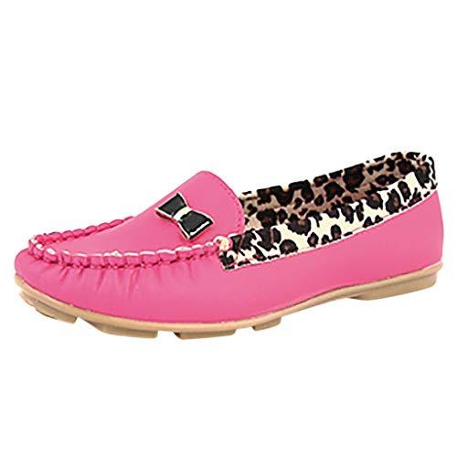 Dragon868 mocassini donna pelle scarpe basso pieghe bowknot leopardate comode scarpe donna elegante primaverili