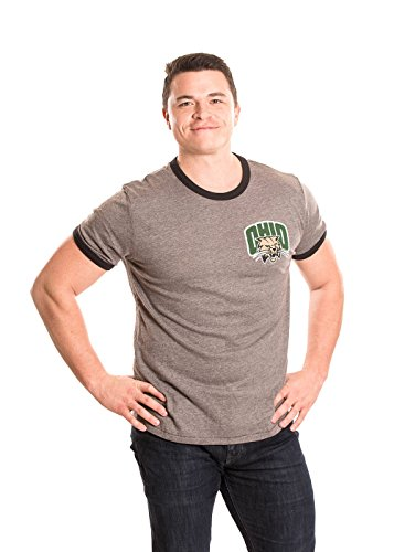 Mens Heather Ringer T-shirt (Alma Mater NCAA Herren Ringer T-Shirt, Herren, Men's Ringer, Heather Grey/Black, X-Large)