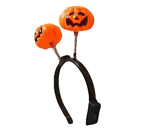WeiMay Halloween Mini Kürbis Haarbänder mit Beleuchtung LED-Blitz Lustige Nette Wabbles Kinder und Damen Kopfschmuck für Party Dance Dekoration 1pcs (Nette Halloween Kostüme Für Kinder)