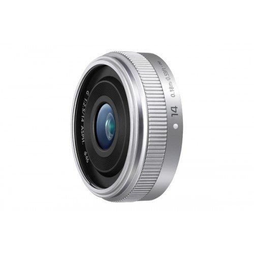Panasonic H-H014AE-S Micro Four Thirds 14mm Single Focal Length Lens - Silver