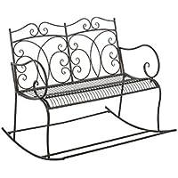 Panchina a dondolo stile romantico CP072 107cm