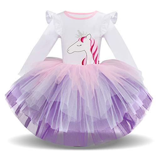 Niñas Tutu Manga Larga Princesa Ballet Vestido Falda