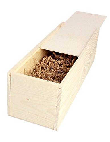 Schreibers - Weinholzkiste mit Holzwolle 1er Geschenkkiste Weinbox Weinkiste Holzbox Geschenkbox - 1St