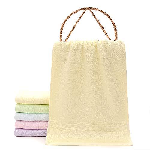Redhj Barra de Toalla toallero Toalla Anillo Toallas para niños Empleados Regalos Regalos Toallas para niños Fibra de bambú Suave, Amarillo, 25 × 50