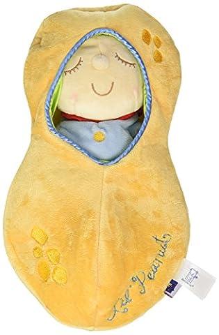 Snuggle Pod Kleine Erdnuss von Manhattan Toy, Erste Babypuppe mit gemütlichem Schlafsack ab 6 Monaten