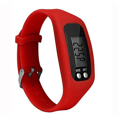 Multifunktions Smart Armband Schrittzähler Activity Tracker 5-stellige LED-Anzeige Outdoor-Sport-Armband Health Watch für Erwachsene -