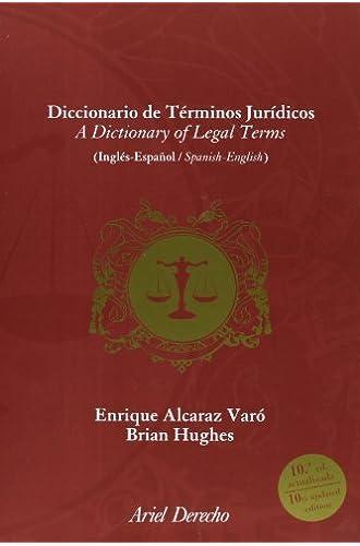 Diccionario De Términos Jurídicos. Inglés