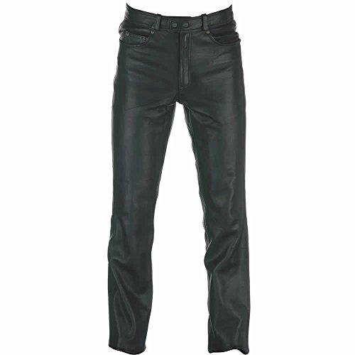 Pantalones de cuero Spada Western Black Ladies