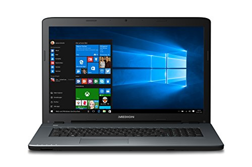 Medion Akoya P7641 MD 60014 43,9 cm (17,3 Zoll mattes 100 % HD Display) Notebook (Intel key i7-6500U, 8GB DDR3 RAM, 1TB HDD, 128GB SSD, Nvidia GeForce GTX 930M, DVD RW, Win 10 Home) silber DE
